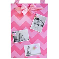 Pink chevron magnet board!
