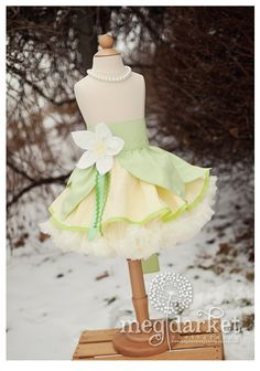 Tiana inspired Dress Up Costume Apron, Half Apron style...Princess and the Frog