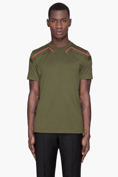 GIVENCHY Khaki Red Detailed t-shirt