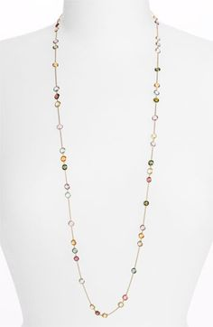 Marco Bicego 'Mini Jaipur' Long Station Necklace available at Jewelry Crafts, Jewelry Art, Beaded Jewelry, Fine Jewelry, Jewelry Necklaces, Beaded Necklace, Jewelry Design, Jewelry Making, Engraved Frames