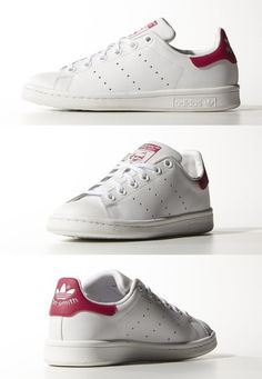 Adidas - Stan Smith white/pink Available at Mong Kok,HKG Parisienne Chic, Running Shoes Nike, Nike Shoes, Me Too Shoes, Men's Shoes, Adidas Stan Smith White, Nike Free Runners, Baskets, Cheap Shoes Online