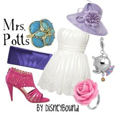 This site is so neat! It takes well known characters and does an interpretation on what their outfits would look like. Love Mrs. Potts!