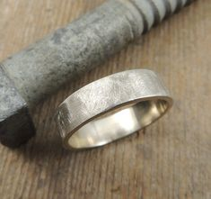 6mm Recycled 14k Gold Mens Wedding Band, Eco Friendly, Simple Gold Mens Wedding Ring, Sustainable, Handmade Wedding Ring