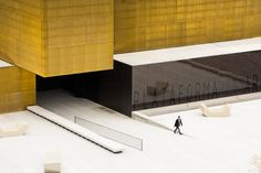 Platform of Arts and Creativity / Pitagoras Arquitectos - Architecture Lab Colour Architecture, Minimalist Architecture, Facade Architecture, Contemporary Architecture, Black Building, Interior Minimalista, Centre, Platform, Beautiful