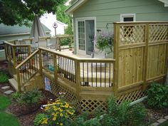pics of wooden decks with privacy | Pressure-Treated Deck, Des Moines' Windsor Heights Suburb - Wood Decks ...