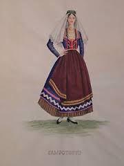 Tessitura a mano di assunta perilli: Costume di Campotosto e Mascioni. Litografie1956