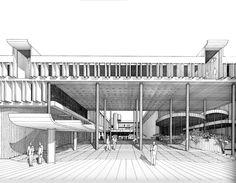 https://flic.kr/p/6hboG5   IBM Office Building - Entrance   Image from the Archives of the Paul Rudolph Foundation