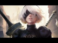 Video Game NieR: Automata YoRHa Type B White Hair Sword Weapon Blindfold Headband Short Hair Girl Wallpaper The Elder Scrolls, Halo 5, Laura Lee, Prince Of Persia, Skyrim, World Of Warcraft, Nier Automata Game, Free Animated Wallpaper, Game Art