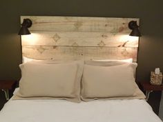 Rustic Headboard DIY