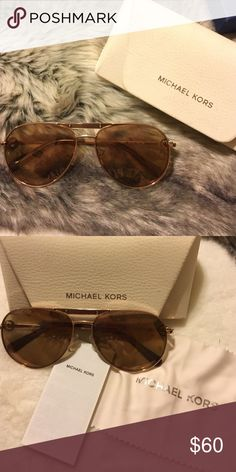 Micheal Kors sunglasses  Rose gold color worn only a couple times KORS Michael Kors Accessories Glasses