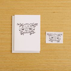 Tattly cards - a card + a temp tattoo - Love the idea, and the Oh Hello design is brilliant.