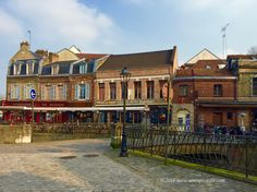 Restaurant and bars at Place de Don in Saint-Leu, Amiens, France on March 11, 2016.  We can finally sit out after work!