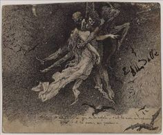 i am become death  Antoine Bourdelle - Dance of the Hanged Men Auguste Rodin, Antoine Bourdelle, The Hanged Man, Dark Drawings, India Ink, Illustrations, Surreal Art, Macabre, Les Oeuvres