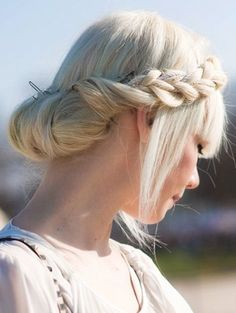 Awesome Rope Braided Updo Hairstyles 2015