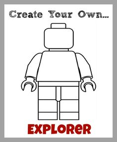 Create Your Own LEGO Minifigures Printables: For Boys & Girls - Home - Homegrown Learners