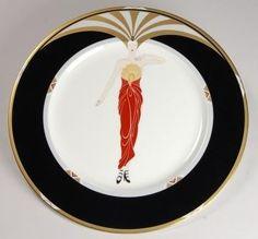 Art Deco Erte Deco Lady Plate : Lot 159