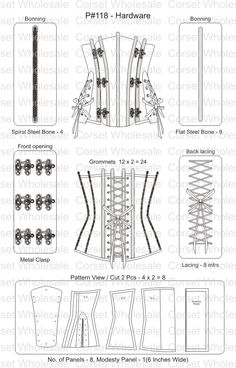 Corset:CD-1053: Steampunk PU leather Corset