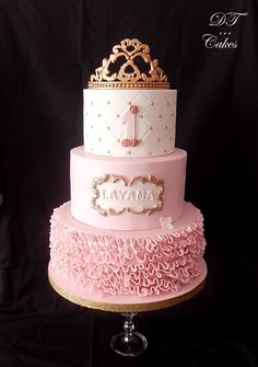 Little Princess Pink Birthday Cake