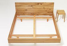 MAMMAwood - wooden bed on Behance Bedroom Wall Designs, Bedroom Closet Design, Diy Bedroom Decor, Bed Frame Design, Diy Bed Frame, Timber Furniture, Home Decor Furniture, Plywood Bed Designs, Wooden Platform Bed