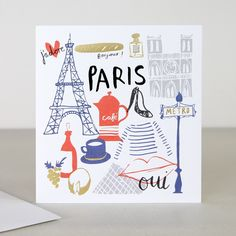 You Are Here Paris Travel Card