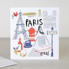 You Are Here Paris Travel Greeting Card | Caroline Gardner