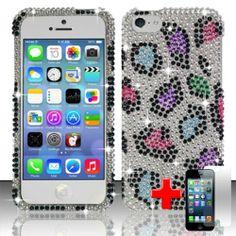 Apple iPhone 5C/Lite - 2 Piece Snap On Rhinestone/Diamond/Bling Case Cover, Purple/Pink Leopard Spot Silver Cover  http://www.amazon.com/dp/B00F91L9BO/ref=cm_sw_r_pi_dp_kPe2sb0SDXNCMSB6