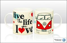 Live the Life you Love bone china mug from Volkswagen