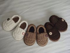 Baby Boy Button Loafers  Made to Order Booties by asimplebee, $18.00