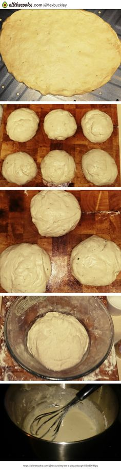 """Tex's Pizza Dough! """"An easy pizza dough to which you can add an extra Mediterranean flavour with the addition of black olives and Italian herbs such as basil, oregano, and parsley.""""  @allthecooks #recipe #pizza #dough #bread"""