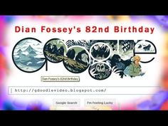 Google Doodle Dian Fossey's 82nd Birthday via: http://gdoodlevideo.blogspot.com/2014/01/google-doodle-dian-fosseys-82nd-birthday.html