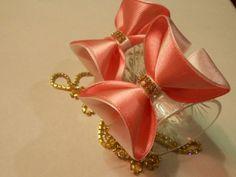 Легкий способ сделать бантик 3D МК/ DIY Make a 3D bow easily