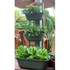 Vegetable Planter | Flower Planter | Outdoor Planters - Self Watering Green Planter Box