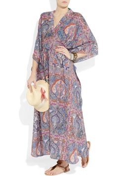 Etro Printed cotton and silk-blend kaftan - 65% Off Now at THE OUTNET