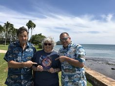 AJ, Phyllis, and Todd with #TheAnuanLegacy in Honolulu, Hawaii.