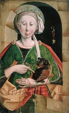 Hl. Margareta 1460-1465; Salzburg; Österreich; Salzburg Museum http://tarvos.imareal.oeaw.ac.at/server/images/7001493.JPG