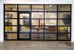 glass garage doors for houses | Glass Garage Door w/ Man Door