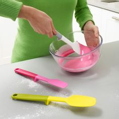 Joseph Joseph Bake set...love that they prop up and don't touch the counter tops!
