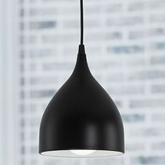 creative contemporane 1 lumina pandantiv cu umbra negru – USD $ 49.99