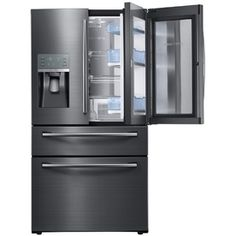 Charmant Add Function And Style To Your Kitchen With This Samsung Food Showcase Four Door  French Door Refrigerator In Black Stainless Steel, Counter Depth.