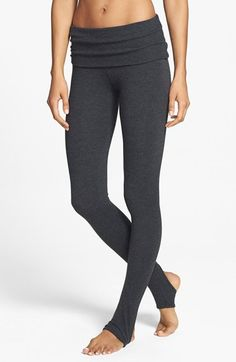 Free shipping and returns on Solow Barre Stirrup Leggings at Nordstrom.com. A wide fold-over waistband and stirrup feet frame ballet-inspired stretch leggings, your new go-to for intense barre sessions.