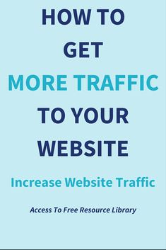 How To Get More Traffic To Your Website: Increase Website Traffic.  One of the questions I've heard bloggers, entrepreneurs & website owners ask again and again is how to get more traffic to my website.  There are hundreds of ways (both ethical and non-ethical) to generate and get more traffic to your website.  BUT…  It is important that you choose the right sources of website traffic that converts into email subscribers and customers.  Click through to read the post >>