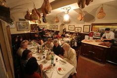 Inside Il Latini, best restaurant Florence, Italy