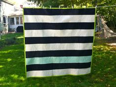 Modern Stripes Quilt, custom made just for you! by Uniquilts4U on Etsy
