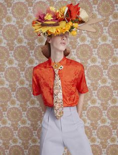 Mad Hatter: 11 avant-garde bonnets for Easter | HUNGER TV Hunger Magazine, New York Photography, Race Day, Fashion Story, Mad, Hipster, Ruffle Blouse, Mens Fashion, Floral