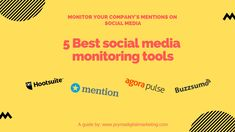 5 Best Social Media Monitoring Tools to Help Monitor Your Companys Mentions on Social Media Social Media Monitoring Tools, Social Media Marketing, Writing, Reading, Business, Seo, Reading Books, Composition, Writing Process
