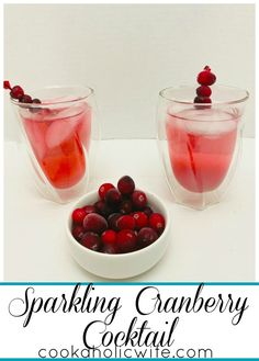 Sparkling Cranberry Cocktail - Cookaholic Wife