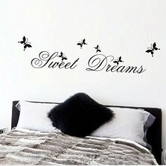 FairyTeller Sweet Dream Quotes Wall Stickers Home Decorations Living Bedroom Diy Decals Mural Arts Printing Poster Paper *** Check out this great product.