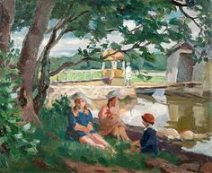 Hope Santeri Salokivi (Turku, September 1886 - Helsinki, March was a Finnish painter and art teacher, known for his Impressionist style of landscapes. Salokivi was also a graphic artist. Helene Schjerfbeck, Chur, Clarence Gagnon, Helsinki, Modern Artists, Artist Painting, Art For Kids, Landscape, Drawings