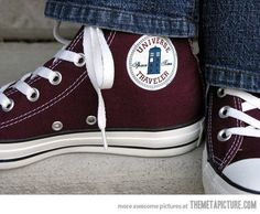My favorite shoes: Doctor Who Converse  I wear them all the time!