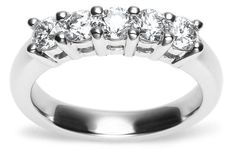 Platinum 5-Stone Diamond Band (1 cttw, G-H Color, VS2-SI1 Clarity) Amazon Curated Collection, http://www.amazon.com/dp/B000KBJLMC/ref=cm_sw_r_pi_dp_lsmBqb0D52XRZ